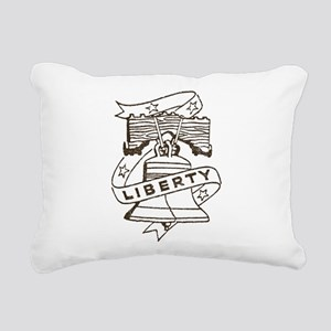 Vintage Liberty Bell Rectangular Canvas Pillow