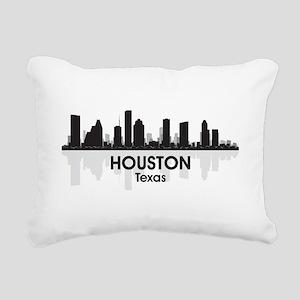 Houston Skyline Rectangular Canvas Pillow