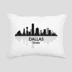 Dallas Skyline Rectangular Canvas Pillow