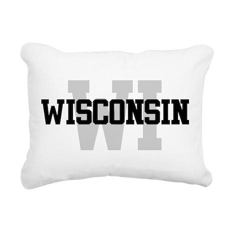 WI Wisconsin Rectangular Canvas Pillow