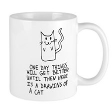 Here is the drawing of a cat_CP Mug