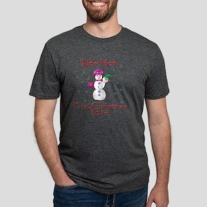 New Mom First Christmas 201 Mens Tri-blend T-Shirt