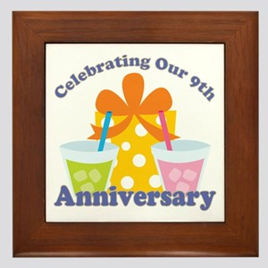 9th Anniversary Party Framed Tile