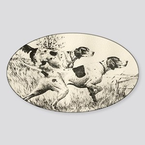 smittyts.com ENGLISH SETTER A Sticker (Rectangular