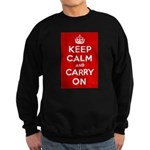 Keep Calm and Carry On Sweatshirt (dark)
