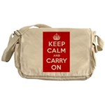 Keep Calm and Carry On Messenger Bag
