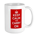 Keep Calm and Carry On Large Mug