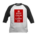 Keep Calm and Carry On Kids Baseball Jersey