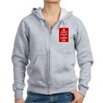 Keep Calm and Carry On Women's Zip Hoodie