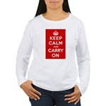 Keep Calm and Carry On Women's Long Sleeve T-Shirt