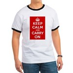 Keep Calm and Carry On Ringer T