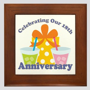 18th Anniversary Party Framed Tile