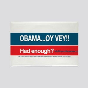 Obama... Oy Vey!! My Buyer's Remorse Rectangle Mag