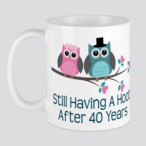 40th Anniversay Owls Mug