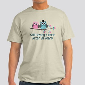 39th Anniversay Owls Light T-Shirt