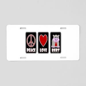 Peace Love Bert Aluminum License Plate