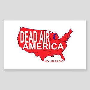 Dead Air America No Lib Radio Sticker (Rectangular