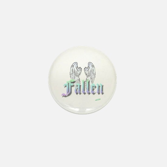 Fallen Rainbow with Wings Mini Button