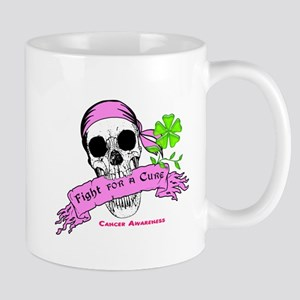 Fight For a Cure Skull Scroll Pink Mug