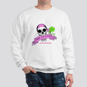 Fight For a Cure Skull Scroll Pink Sweatshirt