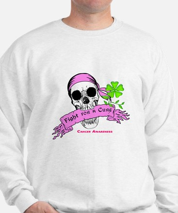 Fight For a Cure Skull Scroll Pink Jumper