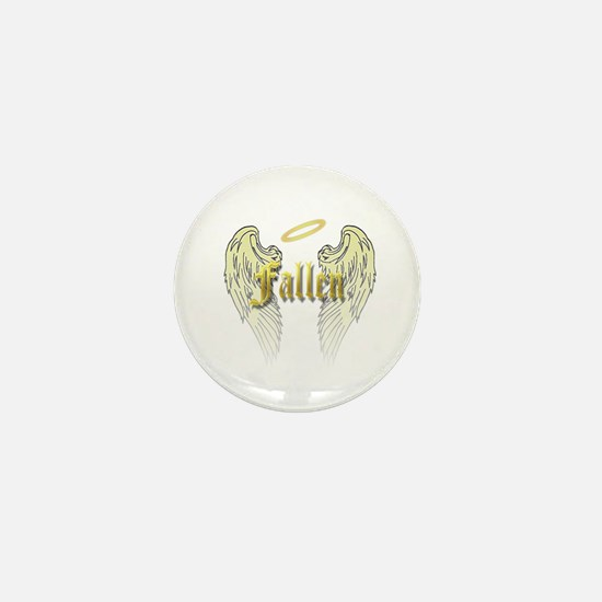 Fallen Gold with Wings Mini Button