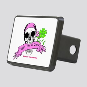 Fight For a Cure Skull Scroll Pink Rectangular Hit