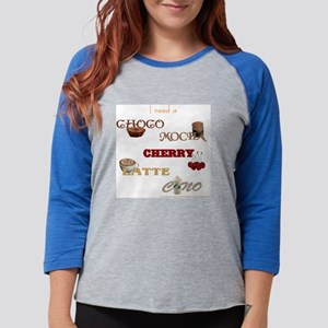 gigglesnips_white_chocomochach Womens Baseball Tee