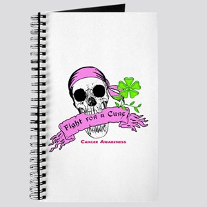 Fight For a Cure Skull Scroll Pink Journal