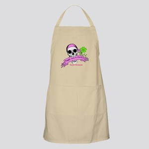 Fight For a Cure Skull Scroll Pink Apron