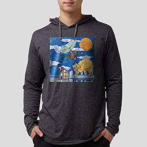 bobcat and monkey square Mens Hooded Shirt