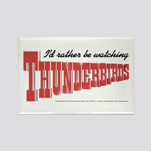 Watching Thunderbirds Rectangle Magnet