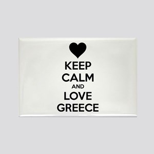 Keep calm and love greece Rectangle Magnet