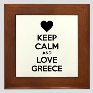 Keep calm and love greece Framed Tile