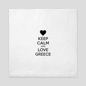 Keep calm and love greece Queen Duvet