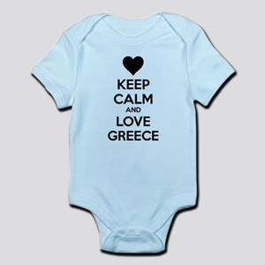 Keep calm and love greece Infant Bodysuit