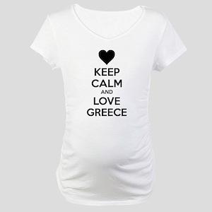 Keep calm and love greece Maternity T-Shirt