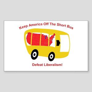 Keep America Off The Short Bu Sticker (Rectangular
