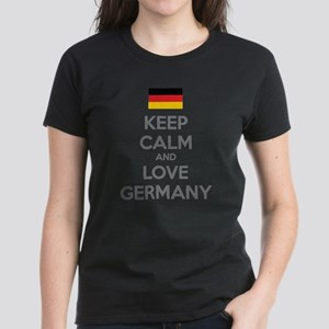 Keep calm and love Germany Women's Dark T-Shirt