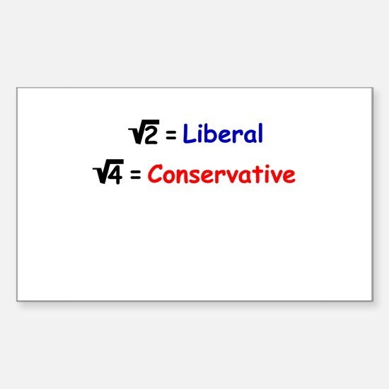 Difference Between Irrational and Rational Decal