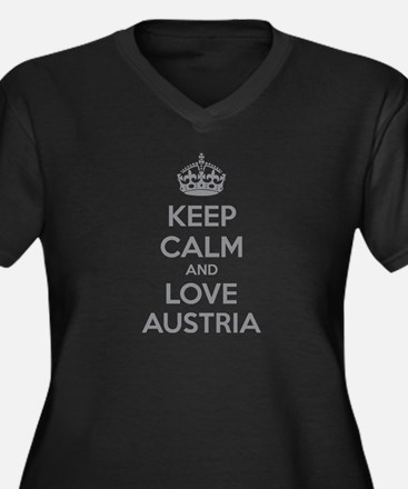 Keep calm and love Austria Women's Plus Size V-Nec
