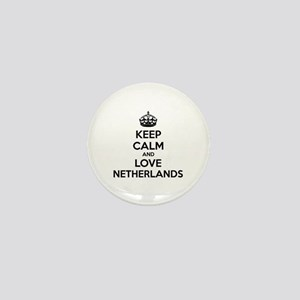 Keep calm and love Netherlands Mini Button