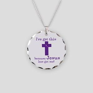 Purple Jesus Has Got Me Necklace Circle Charm