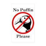 No Puffin Please Sticker (Rectangle 50 pk)