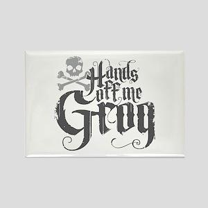 Hands Off Me Grog Rectangle Magnet