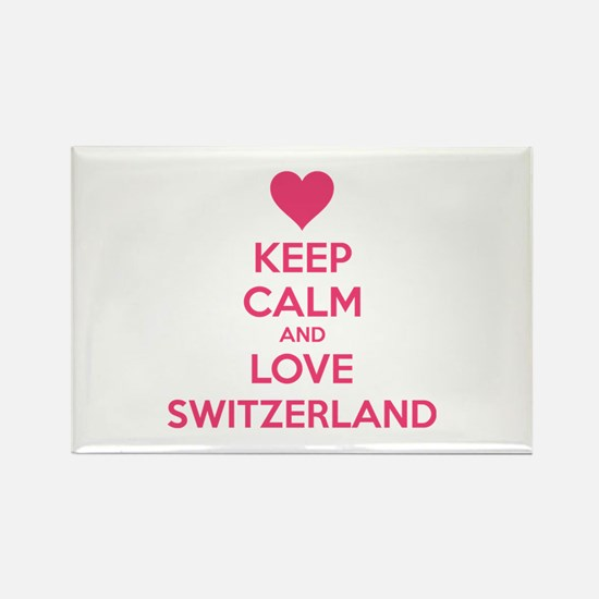Keep calm and love Switzerland Rectangle Magnet