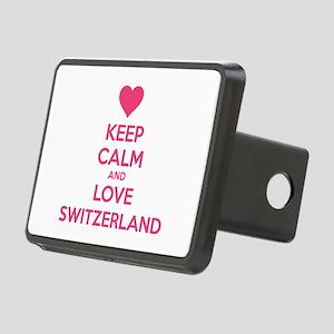 Keep calm and love Switzerland Rectangular Hitch C