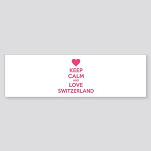 Keep calm and love Switzerland Sticker (Bumper)