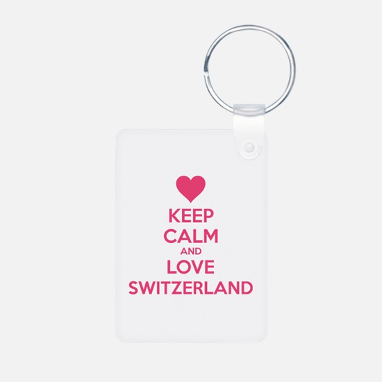 Keep calm and love Switzerland Aluminum Photo Keyc