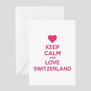 Keep calm and love Switzerland Greeting Card